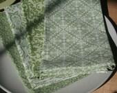 Sage Green Fabric Napkins, Set of 4