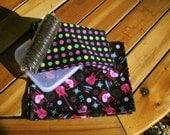 Lunch Box Rocker Girl Fabric Napkins, Set of 2