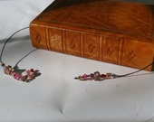Spring Pinks Beaded Bookmark