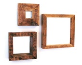 Reclaimed wood 3 mirror set