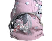 Ghastlies, Coming for Dinner in Mauve, OS Natural Cloth Diaper, FREE SHIPPING