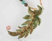 55% OFF FERN FLOWER Fantasy Woodland Gemstone Necklace