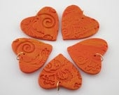 61% OFF 38 mm (1.5 inches) Handmade Stamped Heart Pendants or Purse Dangles, Set of 5