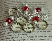 Gryffindor Bracelet Text Glass Pendant Charms