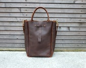 Oiled leather bag/weekend bag  in brown,with leather shoulderstrap SS2012-COLLECTION UNISEX