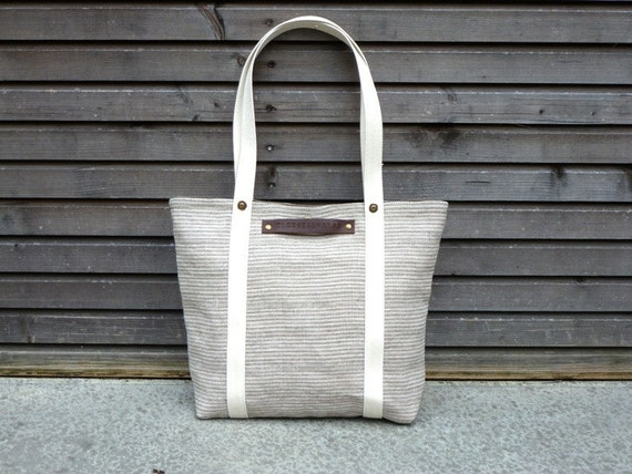 Mid Season Special, tote bag made from Belgium linen