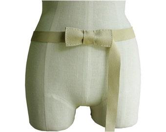 Leather Belt , Bow Belt,  Bone Tan, Waist or Hip Belt, S M L in stock