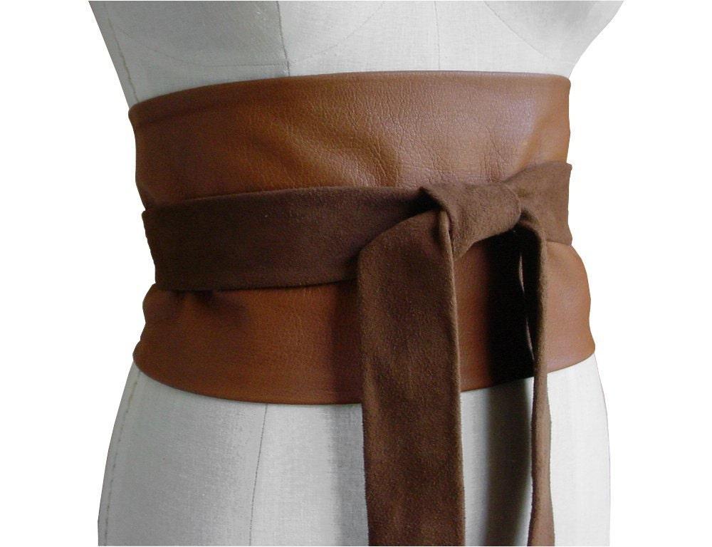 sale leather wide leather obi belt underbust corset belt