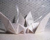 Pair of Origami Dove Christmas Tree Decorations - Dolly Mix Polka Dot