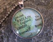 London England Vintage Atlas Pendant