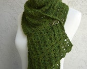 Split Pea Happiness Scarf, Hand Crocheted - Reserved Listing