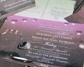 Whimsical Fireflies wedding invitation. Sky Lantern and Mason Jar Wedding Invitation. Sky lantern wedding invitations.