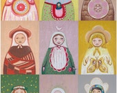 Reserved for Stephanie - Matryoshka big print / folk art