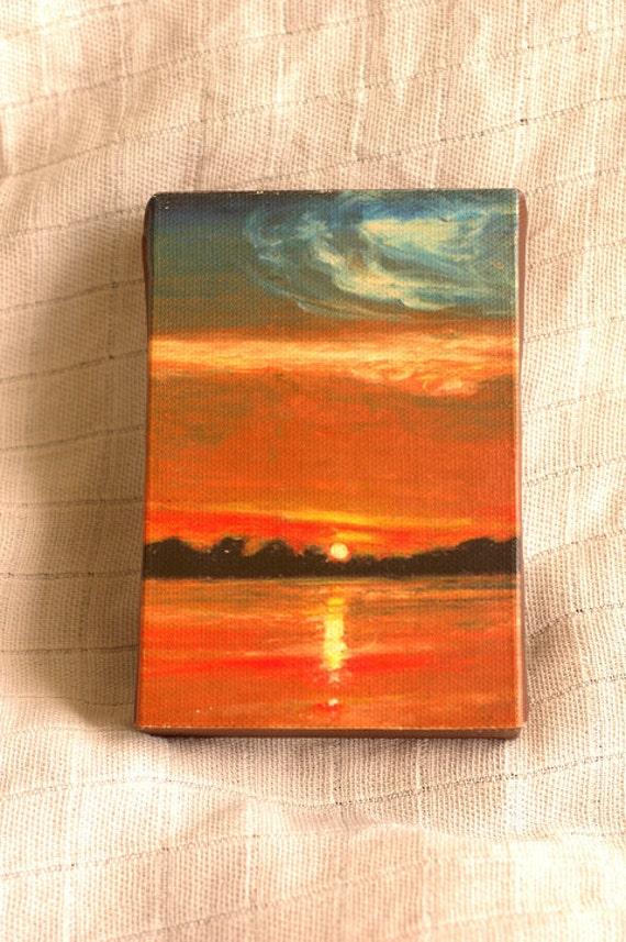 Peru - Jungle sunset / tiny canvas