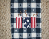 4th of July Embroidered Towel