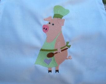 Chef Pig Barbeque Bib Apron