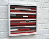 Wood Wall Art - Sculpture Reclaimed Wood - Abstract Painting on Wood