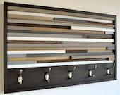 Wood Wall Art - Wood Art - Reclaimed Wall Art - Coat Rack
