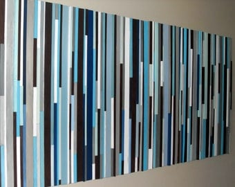 Wood Wall Art - Wood Art -Reclaimed Wood Art - Headboard  36 x 72