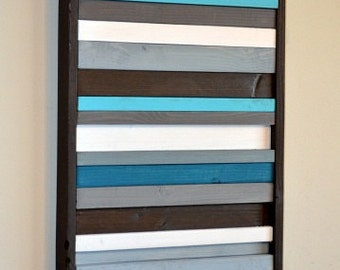 Wood Wall Art - Modern Wood Sculpture - Stripes