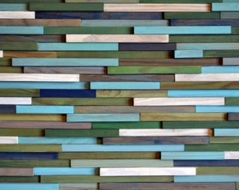 Wood Wall Art - Wood Art - Reclaimed Wood Art - Sculpture Wall Installation
