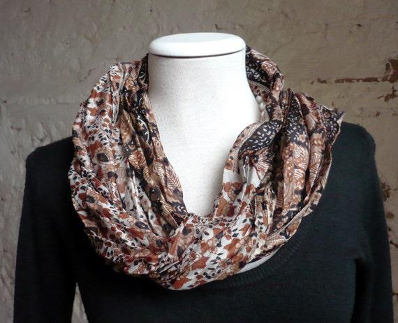 Silk Scarf Shawl -Fall Winter  woman accesories-Recycled Silk Sari