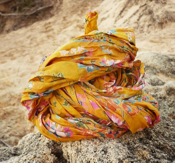 Silk Scarf  Recycled Sari woman accesories.AM