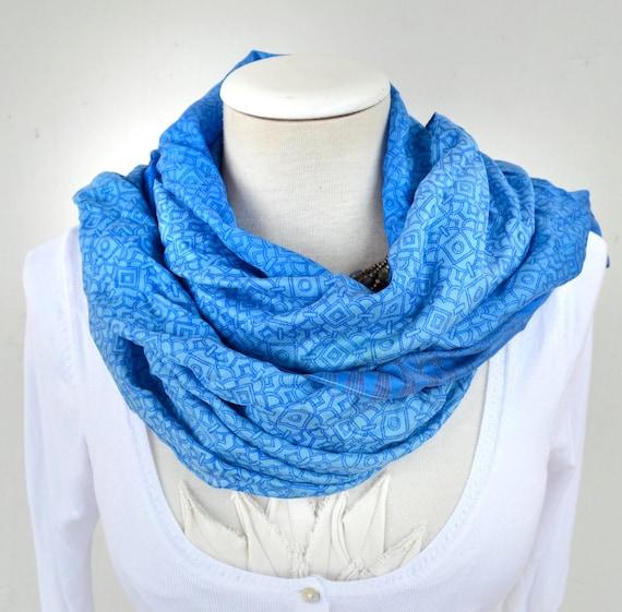 Silk Scarf   Recycled   blue  woman accesories Az