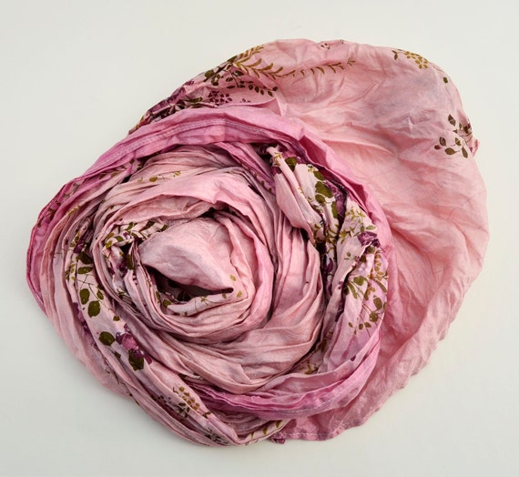 Silk Scarf... I do magic and one goes out...Scarve... Recycled accesories Pink Silk Scarves woman......RF