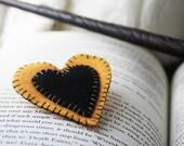 Hufflepuff Heart Pin