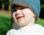 Avery Beanie with Visor for Toddler Boy -- You choose the colors