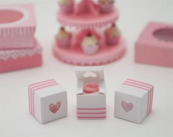 Miniature Treat Boxes: Pink