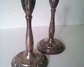 Vintage Rodgers Silverplate Candlesticks