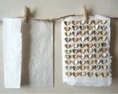 3D Heart Greetings Card- Teal, Cream, Brown