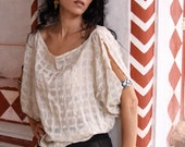Fine Chequered Silk Blouse