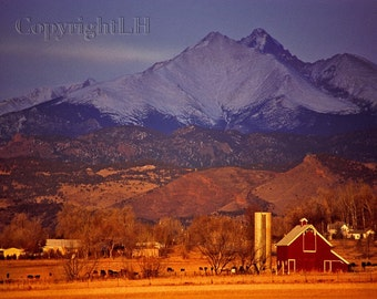 Longs Peak Photo 8x10