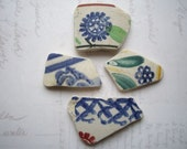 Shades of Green Scottish Sea Pottery SP726