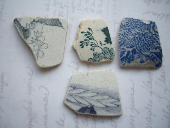 Leaves and Berries North Sea Pottery Pieces SP518