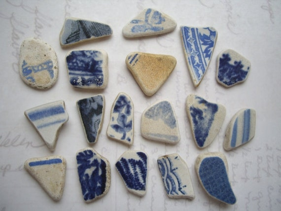 Wee Blue Patterns Scottish Sea Pottery SP579