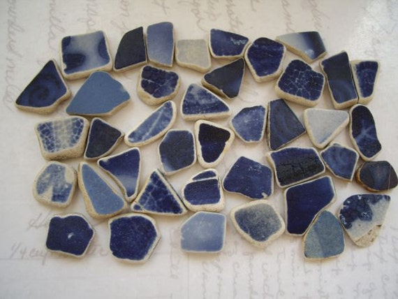 Wee Navy Blue Coast Pottery Pieces SP821
