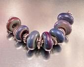 Multi Color 7 Lampwork Bead Set
