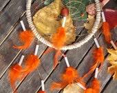 Handmade Dreamcatcher In Orange