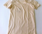 womens large happy house t shirt - creme