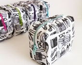 "mini Makeup Bag in ""Fashionista"" print by Lis Sartori Designs"