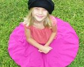 Children Clothing Girls Circle Skirt in Organic Cotton Blend in Fuchsia Pink Eco Friendly