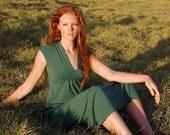 Emerald Dress - Green Maxi Dress - Cap Sleeve - Eco Friendly - Several Colors - Organic Clothing