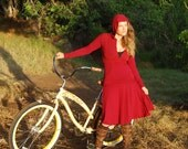 Women's Circle Skirt - Ruby Red - Organic Clothing - Eco Friendly  - Several Colors Available