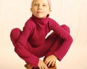 Yoga Pants for Girls - Berry Pink - Leggings - Organic Clothing  - Eco Friendly