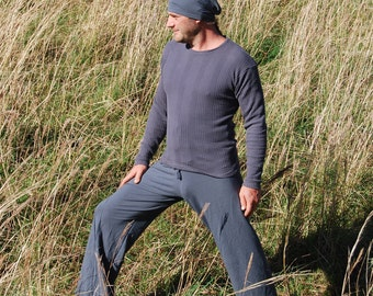 Men's Yoga Pants - Lounge  Pants - Eco Friendly - Organic Clothing - Titanium Gray