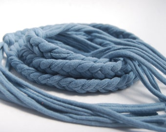 Braided Belt - Boho Chic - Organic Clothing - Eco Friendly - Stone Blue - Several Colors Available